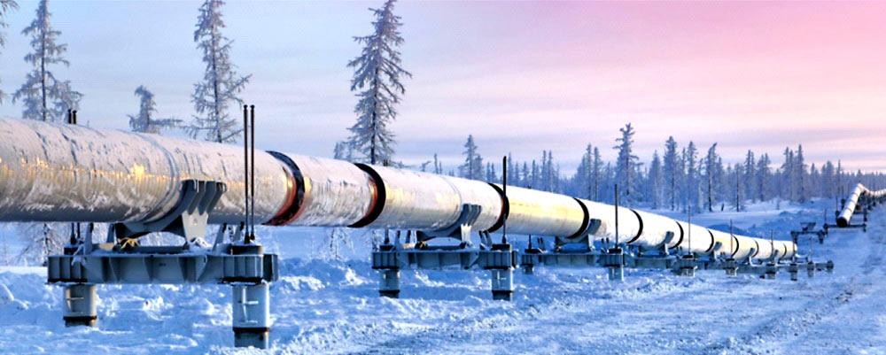 Опоры магистрального нефтепровода «Заполярье-Пурпе» компании «Транснефть», ЯНАО, ХМАО