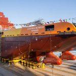 Произведен спуск на воду судна «Катерина Великая», оснащенного гребными винтами производства КОНАР