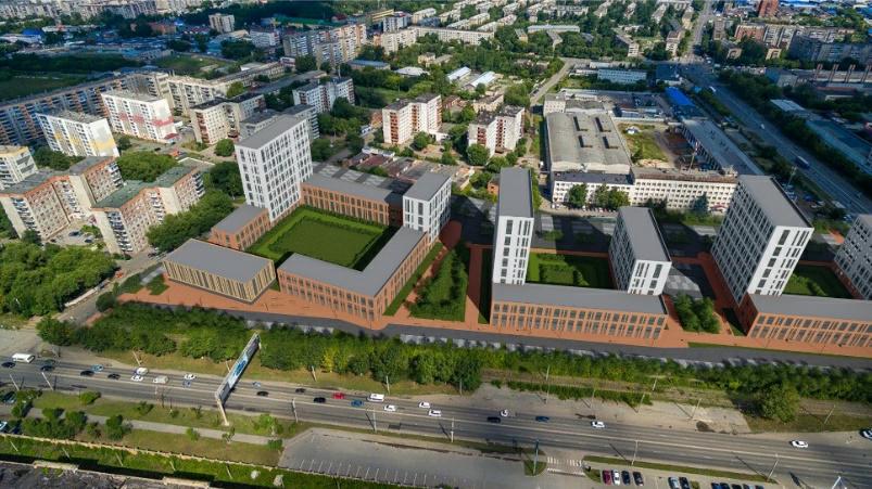 Проект нового ЖК на пр. Ленина, г. Челябинск